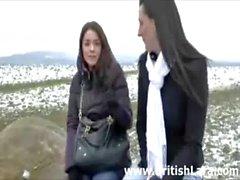 Mature MILF lesbian sex with teen schoolgirl