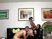 British MILF in stockings takes cumshot from young stud