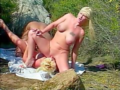 Dana And Friend Fuck Black Cock At The Beach