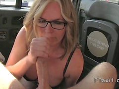 Gorgeous Milf bangs in fake taxi in public