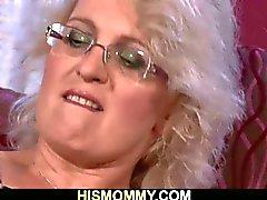 Horny mom licks sleeping girlfriend's pussy