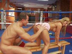 Busty Blonde Milf Fucking With Her Boxing Coach