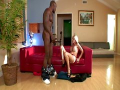 Milf hot babe seduces this big hard black cock