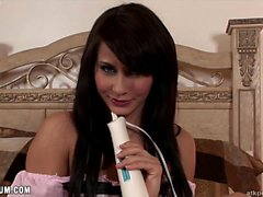 Madison Ivy gets good use of her toy