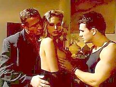 Hot MILF Anna Nova and two guys