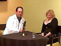 Ginger Lynn gets interviewed