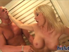 Holly Sampson gets nailed in the bathroom