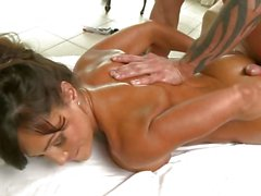 Lisa Ann massage and a sucking hot blow job