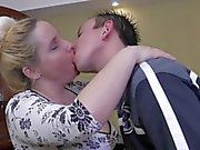 Blonde Pregnant BBW-Milf fucked by young Guy