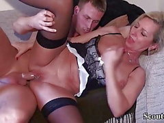 Young Boy Seduce German MILF Friend of Mother to Fuck