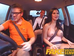 Fake Driving School double internal shot for milf