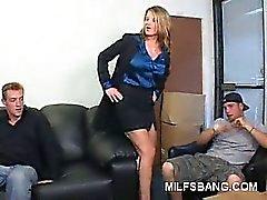 Naughty Milf Striptease