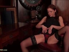 Little black dress and lingerie on a classy milf
