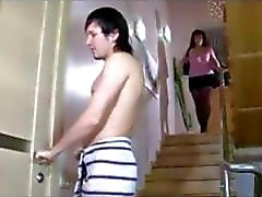 Chubby Russian brunette blows him and bends over to get nailed