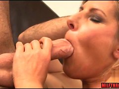 Natural tits milf hardcore and cum on pussy