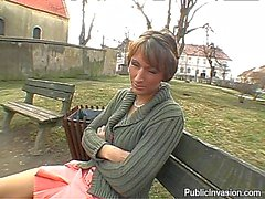 dude gets his hard wang delighted by milf outdoors