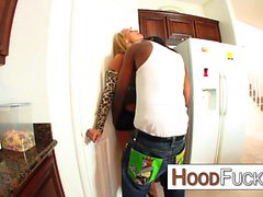 Interracial domination with hot blonde