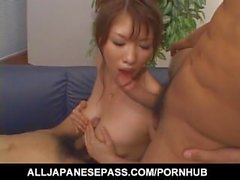 Nami Kimura gets fingers and cum from dongs in hairy love box