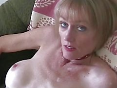 Gilf toys her warm pussy
