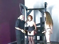 Cute Redhead In Corset Is Restrained By Master