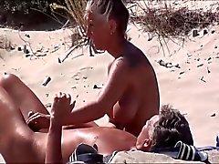 Hot Milf Masturbating on Beach