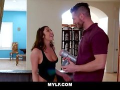 MYLF - Curvy Brunette Fucks Husband With Pocket Pussy