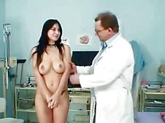 Czech big boobs babe Roxy Taggart medical exam by daddy doctor