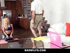 BadMILFS - Hot Stepmom Fucks Sons GF