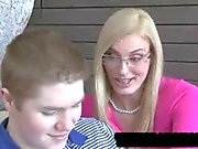 MILF Darryl Hanah threesome with teens