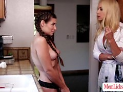 Two horny stepmom shares one good pussy