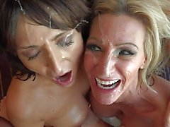 2 milfs and a facial
