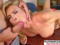 Lovely Mother Laura Layne Riding Cock Good Her Dad's Friend
