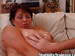 Big Boobed Latina Wife Fuck Training!