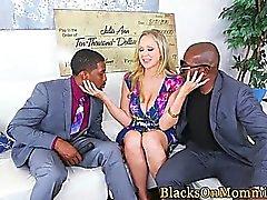 Busty trio MILF cumdrenched by BBC