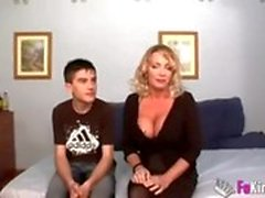 Small boy fucks mom harder than his father, Mom satisfied