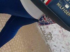 egyptian milf jeans feet legs ass street