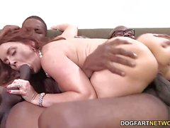 Janet Mason fucking two black dicks