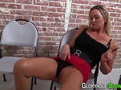Busty slut gets bbc cum