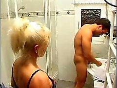 Bathroom blowjob!