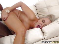 Blonde Nina Elle takes on this huge dick