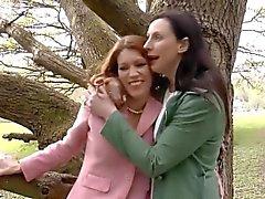 Mature lesbian milfs lick