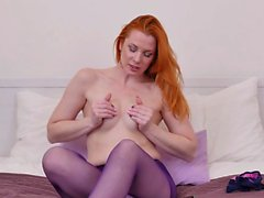 Redheaded Euro milf Michelle needs getting off