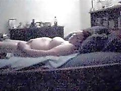 My pregnant mom caught masturbating by hidden cam
