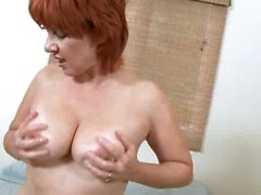 Hot red head slut that loves pussy pumping action