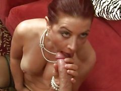 Horny momma fills her mouth with a monstrous hard dick and loves it