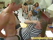 Horny Office Chicks Suck and Fuck Strippers at Work