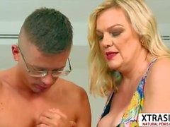 Charm Mom Lena Lewis Take Cock Good Tender Son's Friend