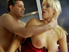 Big boobs Rebecca has her cooter host a magical penis in POV