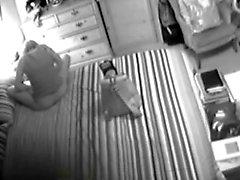 Kinky husband caught masturbating on spycam that was hidden