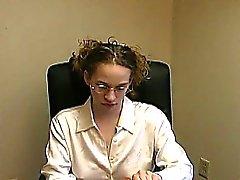 Busty Lactating Mom at Work